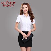 Summer professional set female short-sleeve shirt tailored skirt set formal work wear