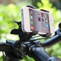 100pcs 360 Degree Rotating Bike Bicycle Holder Stand Handlebar Clip Mount Bracket for Phone GPS MP4 MP5