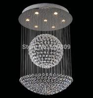 Free shipping luxury modern led crystal chandelier Dia60*H80cm ball design lustres de sala home lighting