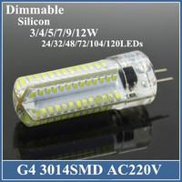 1x Mini G4 LED Lamp Bulb 3W/5W DC 12V Crystal Silicone 7W 220V Candle Corn Droplight Chandelier SMD 3014 Spot Lights