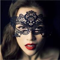 2014 Hot Sale new A43 1PC Sexy black cutout lace mask masquerade mask free shipping