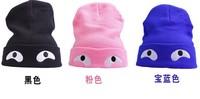 Free Shipping woman Fashion  cap Han edition winter hat children eyes warm earmuffs turtleneck cap knitting hat
