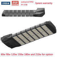 210W LED Street Light led road light Garden light CREE XTE Chip Meanwell 155degree beam angle 3 years warranty DHL free shipping