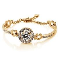 Bracelet Bangle Jewelry Round Swiss Cubic Zirconia Diamond Bracelets Hearts & Arrows Perfect Cut 3.5 Carat CZ Bracelet