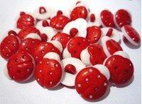 500 PC lovely children Red goldbug Plastic Button