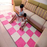 30*30cm *1cm Patchwork floor mats puzzle carpet velvet eco-friendly foam thickening plush floor mat