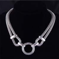 2014 Fashion Necklace Europe And The United States Punk Metal Thick Chain Necklace Statement Necklace  Women N1649