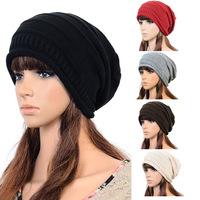 2015 New Women Autumn Hat Skullies Casual Touca Cotton Hip Hop Ring Warm Beanies Cap Fall Winter Girls Knitted Hats Gorro