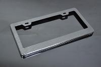 Coooool  !! Universal Carbon Fiber License Plate Frame Registration Plate Holder