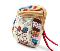 Yunnan Cloth Purse Cute Canvas Small Handbag Mobile Wallet Free Shipping