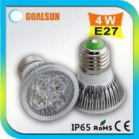 50pcs/lot Aluminum 110V/220V 400lm high power E27 4W led spot light Warm white/Day white 4watt Led Spotlight bulb lamp