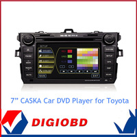 2014Caska  in Dash Universal Car DVD GPS Navigation Radio Bluetooth Steering Wheel Control USB Ipod Multimedia Player For Toyota