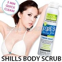 SKIN CARE SHILLS Bubble Body Scrub Chamfer Refined Skin Texture body care Whitening Cream Removing Melanin250 ML