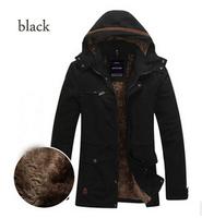 2014 New Arrival Winter Casual Men Coat Jacket Solid Thicken Plus Velvet Outerwear For Men Plus Size L-4XL Cotton Down Coat Men