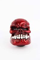 Universal Manual Operation Car Gear Shift Knob Shifter Lever Resin Skull Red