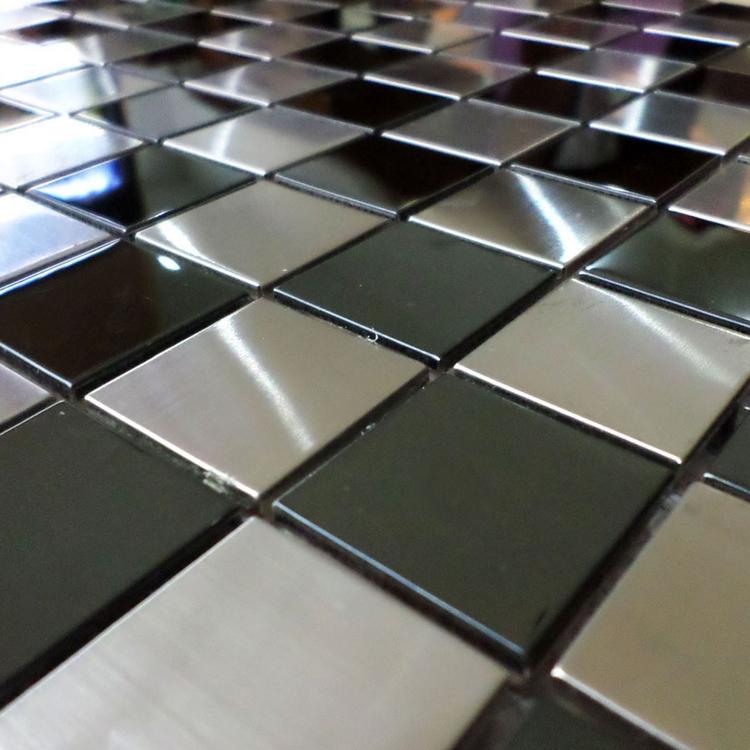 Metrotegels Keuken Kopen : Stainless Steel Metal Tile