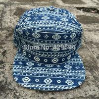 6 panel hybrid snapback cap all over aztec pattern fabric strapback cap custom blank baseball cap