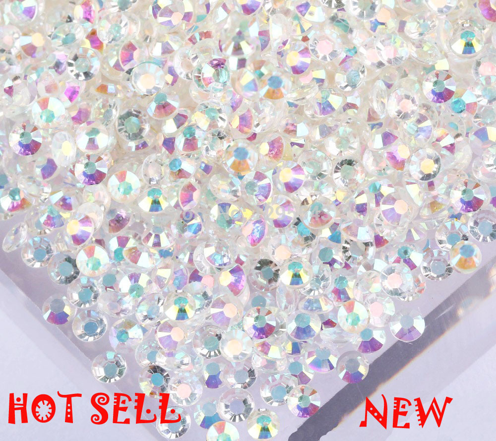 Free shipping 10000pcs ss10 4mm AB Magic color nail art stones and crystals strass crystal NOn hotfix Rhinestones applique(China (Mainland))