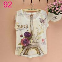 3D print Eiffel Tower pattern womens  t-shirt fashion women summer new plus size t-shirt ladies novelty top tees