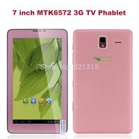 NEW 7 inch 3G TV Phone Call tablet pc MTK6572 Dual Core Inbuilt Wifi bluetooth Built-in 3G WCDMA Phone sim card slot dual camera