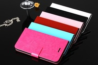 New Arrival i6 phone use Flip Leather case  Pouch Wallet protective phone  DNS- S4503 6 colors free shipping