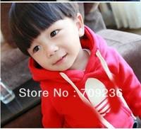 Free Shipping Baby Boys Girls Clothing Long Sleeve Hoodies Children's Boy Sweatshirts Kids Sweatshirts Red In Stock Size 90-130