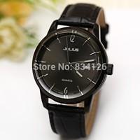 2014 New Fashion Brand Julius Men Women Sport Watches Waterproof Military Luxury Leather Strap Quartz WristWatch Free Shipping