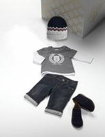 Free shipping New 2014 Fashion Baby Boy Clothing Set Autumn 3pcs Suit T shirt + Jeans + Hat kids clothes conjunto de roupa