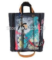NEW 2014 FASHION big size Graffiti Printed canvas handbags shoulder bag ruslana korshunova doodle  shopping bag 1:1 Original