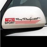 Free shipping Automobile label  car stickers for Toyota TRD Reversing mirror stickers decorative car modified