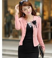 2014 new spring and autumn formal women's blazer ol slim plus size bow short blazer jacket