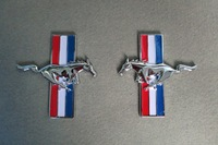 Metal Zinc Alloy  horse Emblem For Left&Right Side