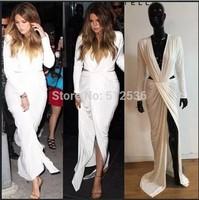 Bandage dresses 2014 new arrival fashion brand sexy deep v-neck casual bandage maxi dress party evening dress