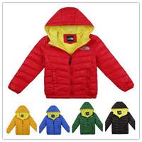 High quality Winter  Children's warm outerwear clothes  kids boys girls Brand hoodies down parkas coat jacket