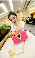 2014 new promotional fashion geometric triangle diamond chain bag shoulder diagonal bag 167 Korean version free of charge