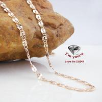 8443620  Fashion Copper 18Kgold plated  Russia cc color rose gold blade necklace 60cm