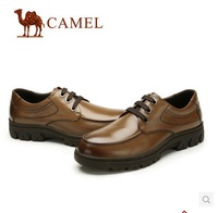 2014 new style Free shipping fashion formal genuine leather men's work shoes, casual men popular shoes hot selling brand camel