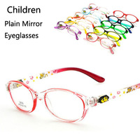Wholesale Fashion Children Boys Girls Plain Mirror Myopia Eyeglasses Frame Kids Cute Glasses Frames