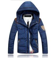 MMY16  2014 Winter New Men'S Sportswear Cotton-Padded Down Brand Jackets Fashion Slim Thick Coat Outwear Parka