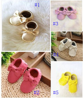 Hot saling! baby tassel moccasins soft sole moccs booties toddler/infant solid colour fringe shoes free shipping
