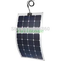 100W  MONO semi-flexible solar panel 18V for PV RV CAR battery charger Bendable Marine UK STOCK no tax to Europeain