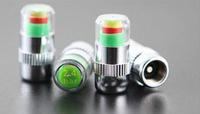 4pcs  Car tpms Pressure Monitor Valve Stem Cap Sensor Indicator   Eye Alert  valve cap light car alarm