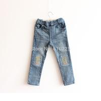 New 2014 Children's Jeans Boys' Jeans Casual Kids Denim Pants Girls Fall Trousers Full Length Autumn Wear