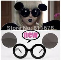 Ladygaga stage with flip glasses glasses mickey round glasses sunglasses