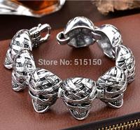 "8.46"" 29.5MM Fashion Jewelry 316L Stainless Steel Bracelet Silver Tone Mens Boys bracelet Wholesale Jewelry"