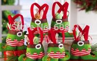 Retail!! Christmas Candy Bag Elf Candy Bags Christmas Gift Bag Christmas Decoration Supplies Candy Bags