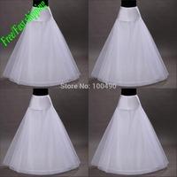 Free Shipping in Stock 1-hoop 2-layer Tulle Aline Petticoat Bridal Wedding Petticoat Underskirt Crinolines for Wedding Dress
