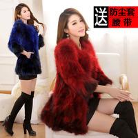 Raccoon fur coat new 2014 women's grass special clearance fur coat long sections XL-5XL