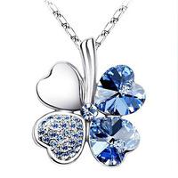 2014 Fashion Women Four Leaves Clover pendant necklace Elegant Women Jewelry