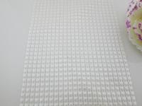 (FL348)5 Yards Sparkling White Pearl Two String Rhinestone Mesh Wedding Ribbon Banding